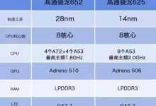 骁龙625比652(骁龙652和骁龙625性能对比)