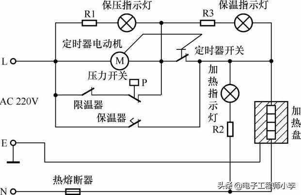 典型电压力锅电路的识图方法