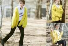 黄开衫里面配什么颜色(女生黄色开始里面配什