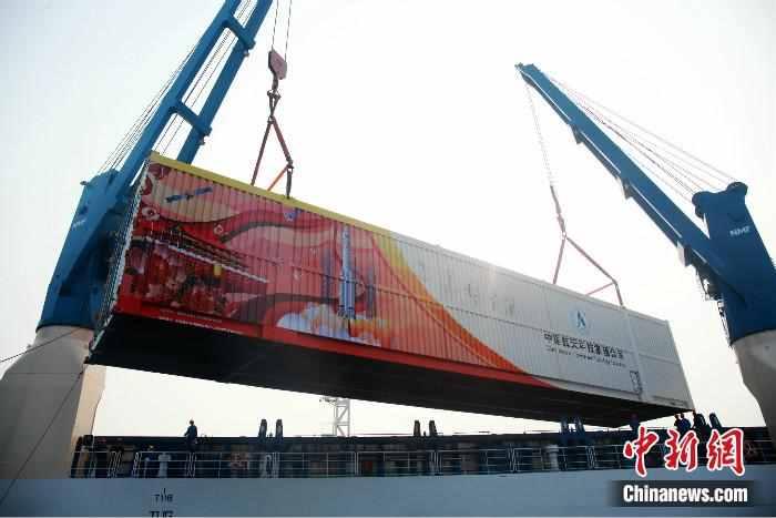 长征五号遥三运载火箭运抵海南文昌 将择机发射