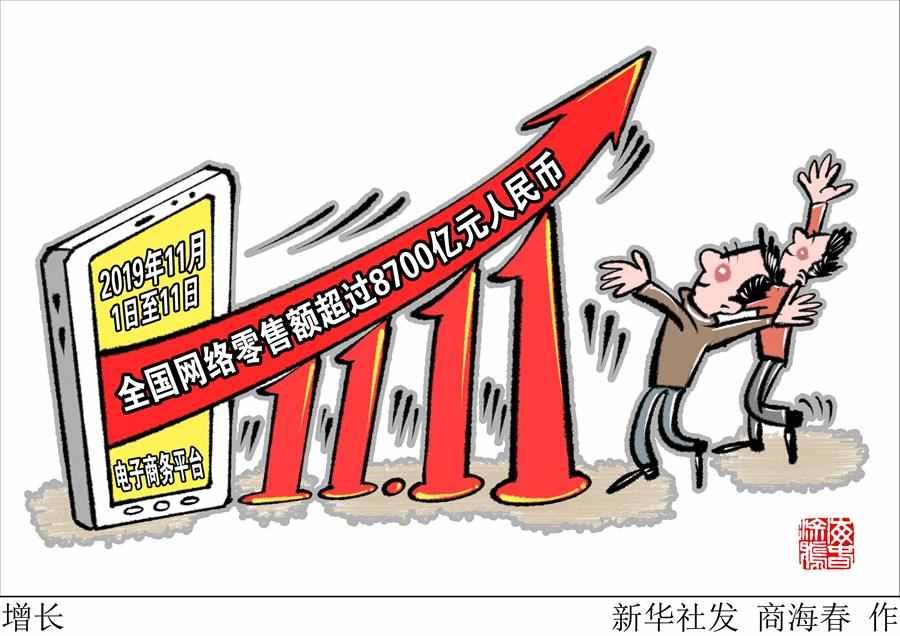 (图表·漫画)[经济]增长
