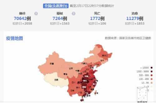 2月18日全国疫情地图查询  2月18日各省疫情分布图数据实时动态
