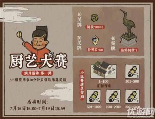 江南百景图满月庆厨艺大赛怎么玩 满月庆厨艺大赛活动奖励一览