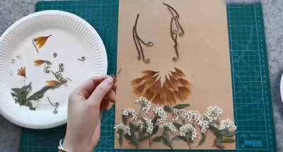 树叶贴画简单又好看 简单树叶贴画方法