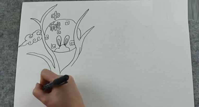 中秋简笔画 简单中秋节的画怎么画