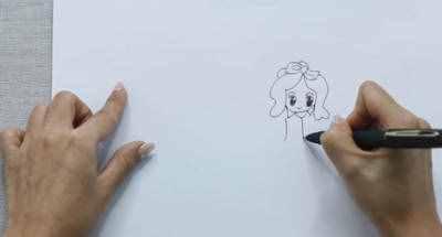 公主简笔画 卡通小公主简笔画