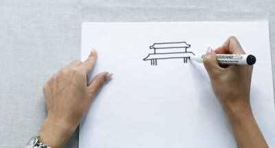 天安门简笔画 怎么画北京天安简笔画