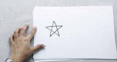 五角星简笔画 五角星的简易画法