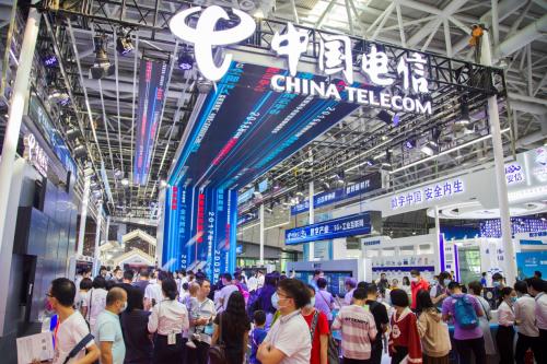 第三届数字中国建设成果展览会启幕 中国电信展台上