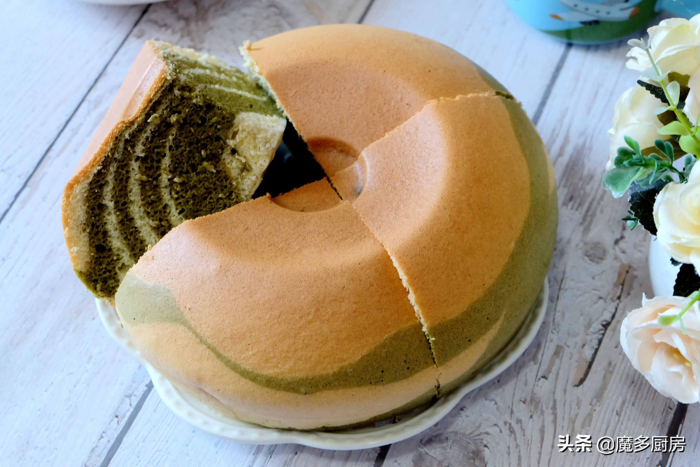 用电饭锅做双色蛋糕,无油低糖做法简单,比烤箱制作还好吃